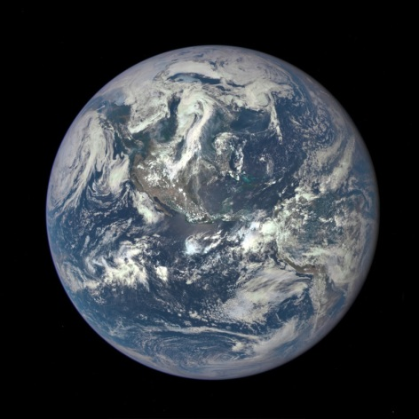 No human has been far enough from Earth to take a picture of it in its entirety since the last Apollo mission in 1972. Fortunately, NASA's Deep Space Climate Observatory spacecraft was able to snap this photo from a distance of 1 million miles on July 6, 2015.